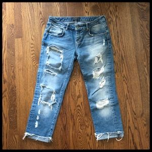 🆕 {Zara} Heritage Denim Distressed Jeans